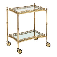 Brass Art Deco Period Table with Tray