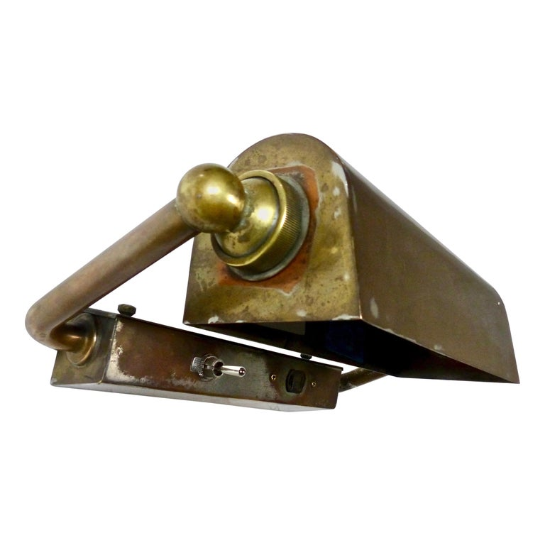 Brass Articulating Wall-Mounted Lights, circa 1920 For Sale