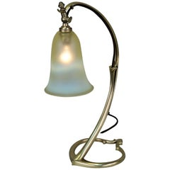 Brass Arts & Crafts Table Lamp by W.S.A. Benson