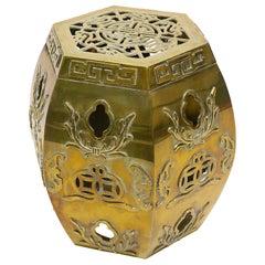 Brass Asian Garden Side Table/ Stool