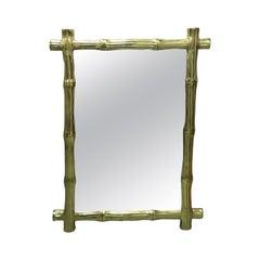Brass Bamboo Mirror
