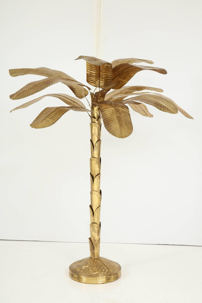 Brass Banana Tree In Excellent Condition For Sale In New York, NY