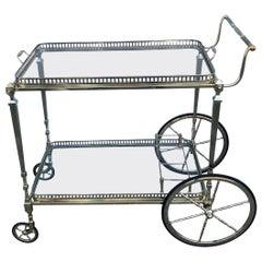 Brass Bar Cart by Maison Jansen