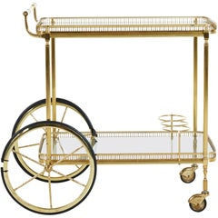 Brass Bar Cart, Denmark, 1960s
