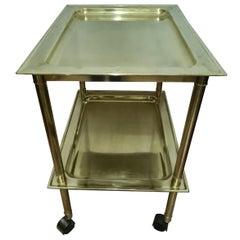 Brass Bar Trolley