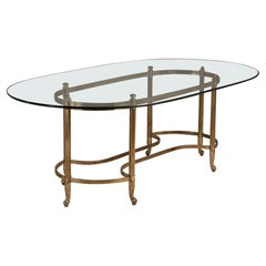 Brass Based Brass Desk/Centre Table, 1960s
