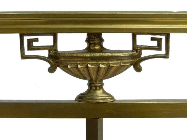Brass Bed Antique 19th Century French Empire US Queen UK King-Size  In Good Condition For Sale In France, GB