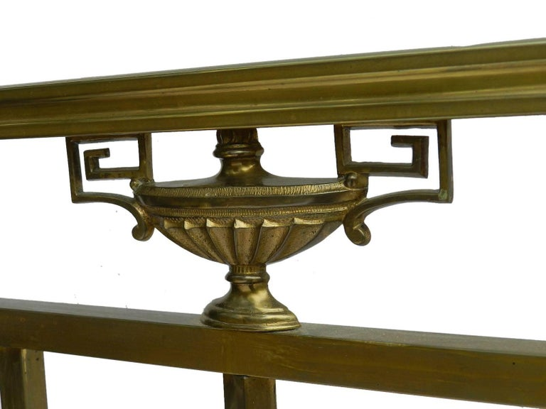 Brass Bed Antique 19th Century French Empire US Queen UK King-Size  For Sale 4