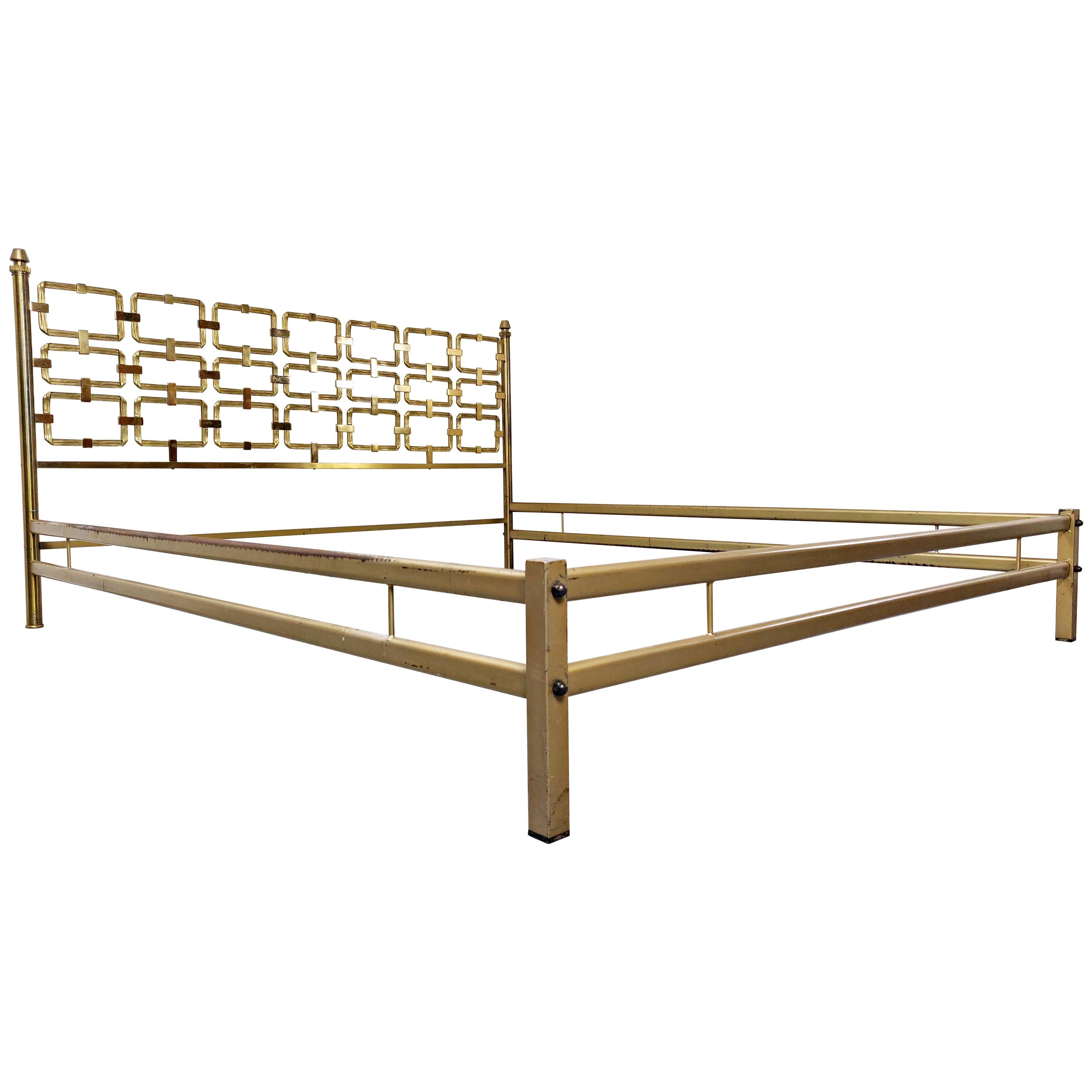 Brass Bed by Luciano Frigerio, 1970s