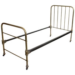 Brass Bed Frame Victorian 19th Century Single Bedframe Cast Iron