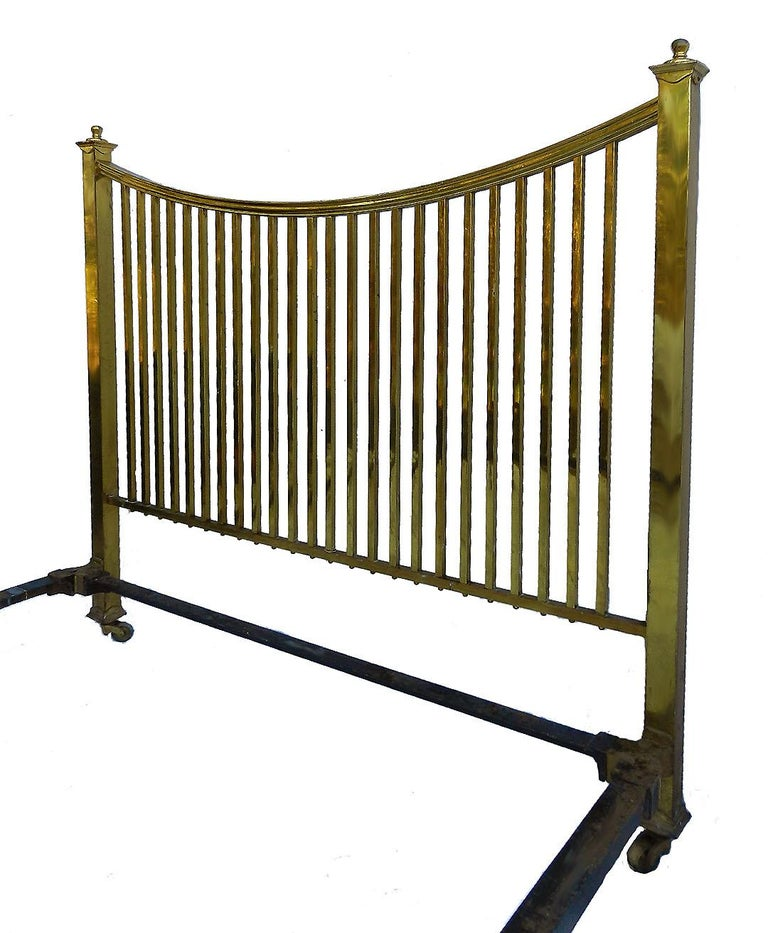 British Brass Bed Maple & Co Antique US Queen UK King Size, English, circa 1900 For Sale