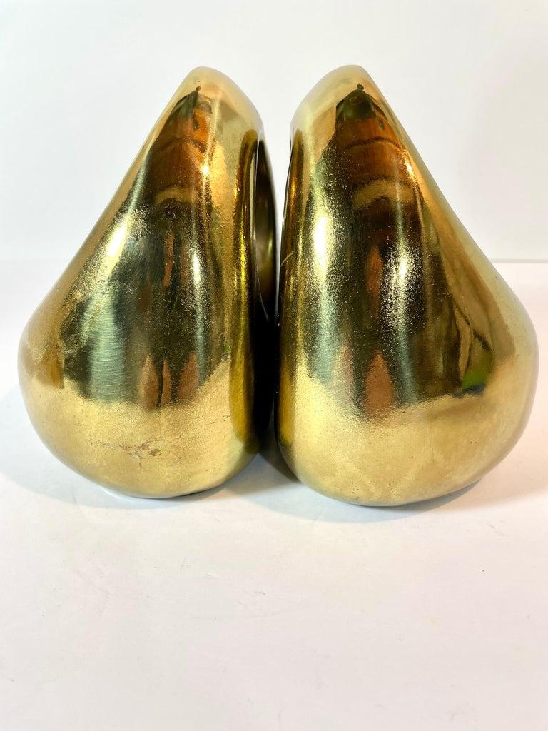 Mid-Century Modern Brass Ben Seibel Bookends