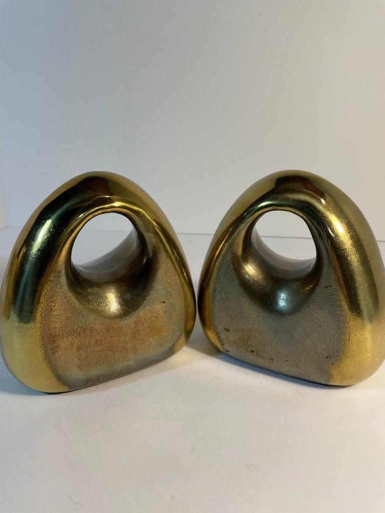Mid-20th Century Brass Ben Seibel Bookends