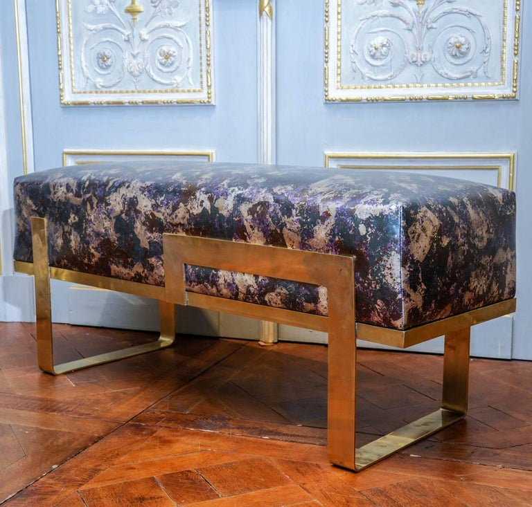 Brass Bench In Excellent Condition For Sale In Saint-Ouen (PARIS), FR