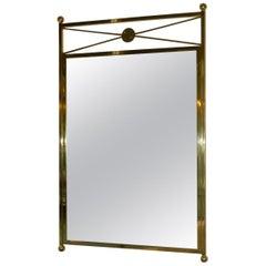 Brass Billy Haines Style Brass Mirror Modernist Vintage