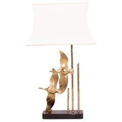 Brass Bird Table Lamp