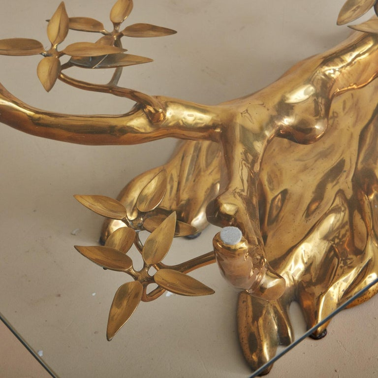 Brass Bonsai Coffee Table by Willy Daro, Belgium 1970's For Sale 5