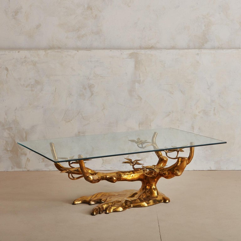 Brass Bonsai Coffee Table by Willy Daro, Belgium 1970's For Sale 1