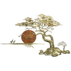 Brass Bonsai Tree Sculpture by Bijan, 1985