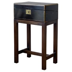 Brass Bound Writing Box on Stand