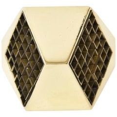 Brass Bronze Architectural Aiko Japanese Desk Accessory