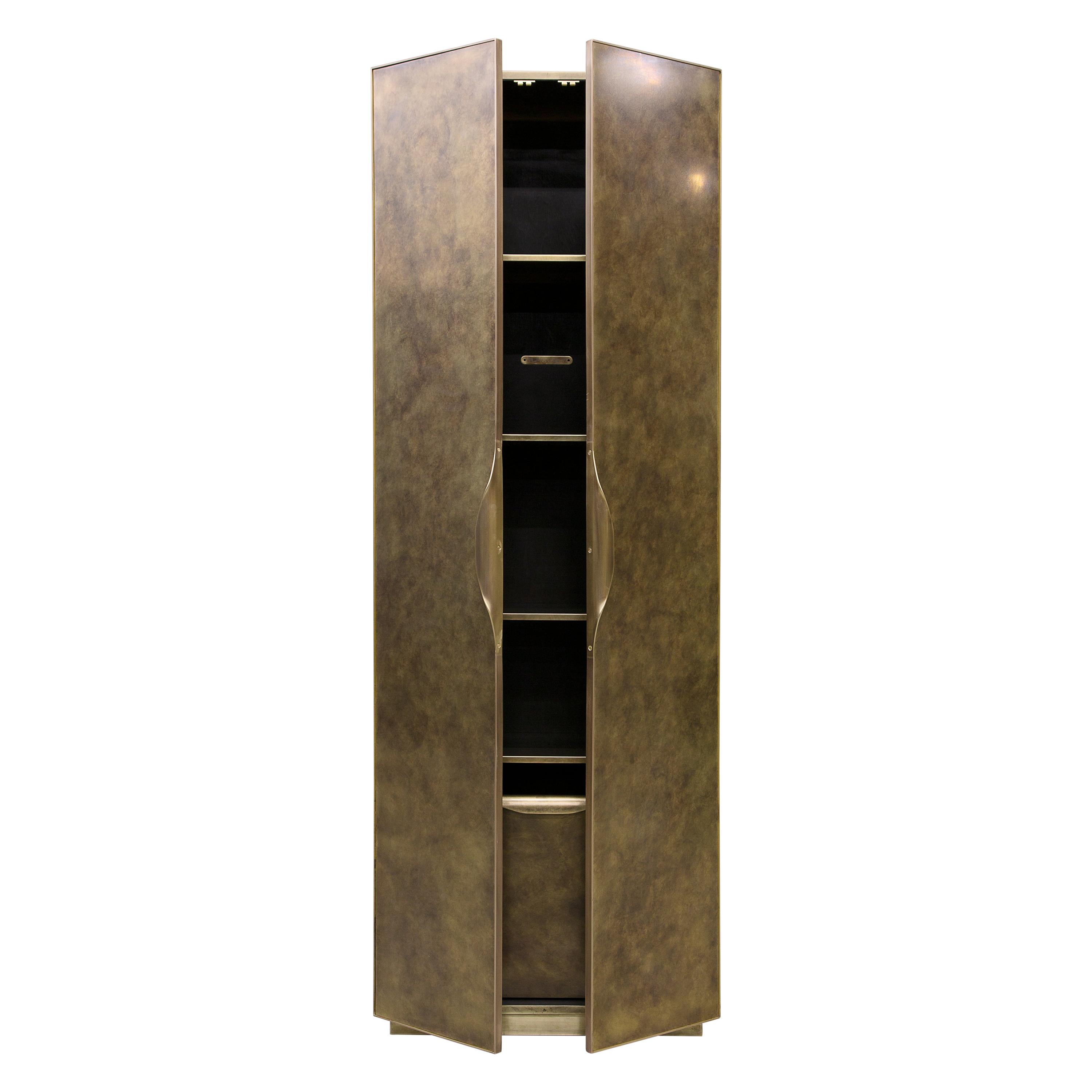 Brass Cabinet Handcrafted and Signed by Novocastrian