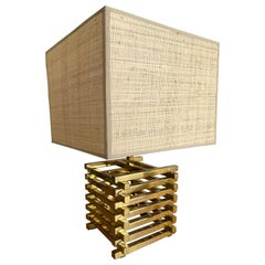 Brass Cage Lamp by Sciolari, Italy, 1970s