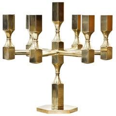 Brass Candelabrum by Lars Bergsten for Gusum, Sweden