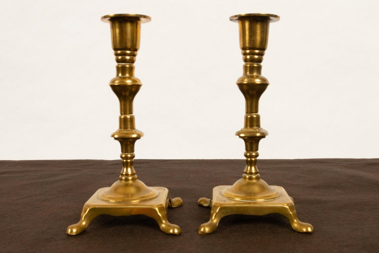 Brass Candleholders, 19th Century, Set of 6 For Sale 8