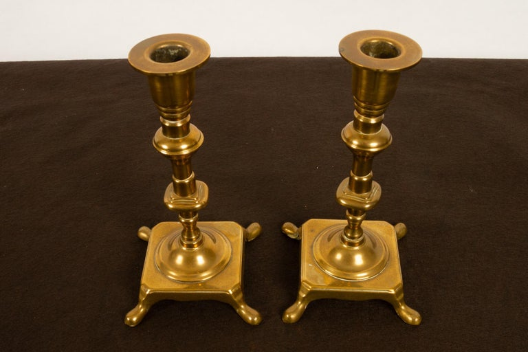 Brass Candleholders, 19th Century, Set of 6 For Sale 9