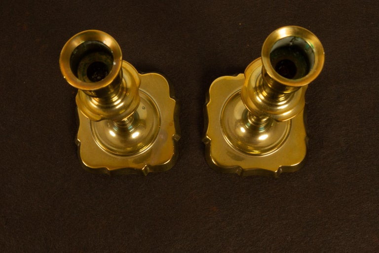 Brass Candleholders, 19th Century, Set of 6 For Sale 2
