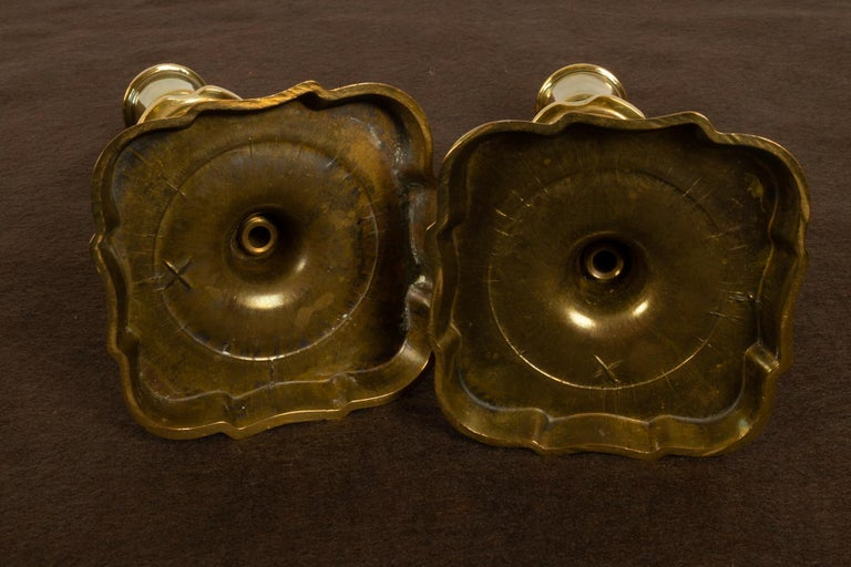 Brass Candleholders, 19th Century, Set of 6 For Sale 3