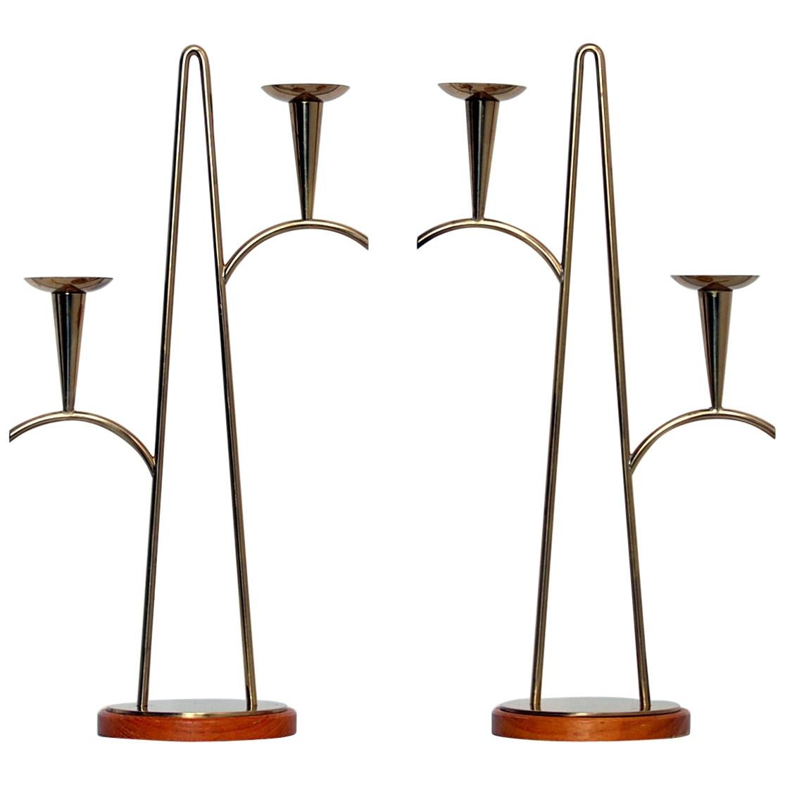 Brass Candleholders by Gunnar Ander for Ystad Metall Sweden