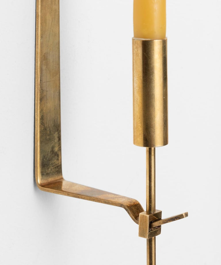 Late 20th Century Brass Candleholder by Pierre Forsell, Sweden, circa 1970 For Sale