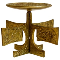Brass Candleholder, European Mid-20th Century