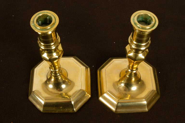 Brass Candleholders, 19th Century, Set of 6 For Sale 6