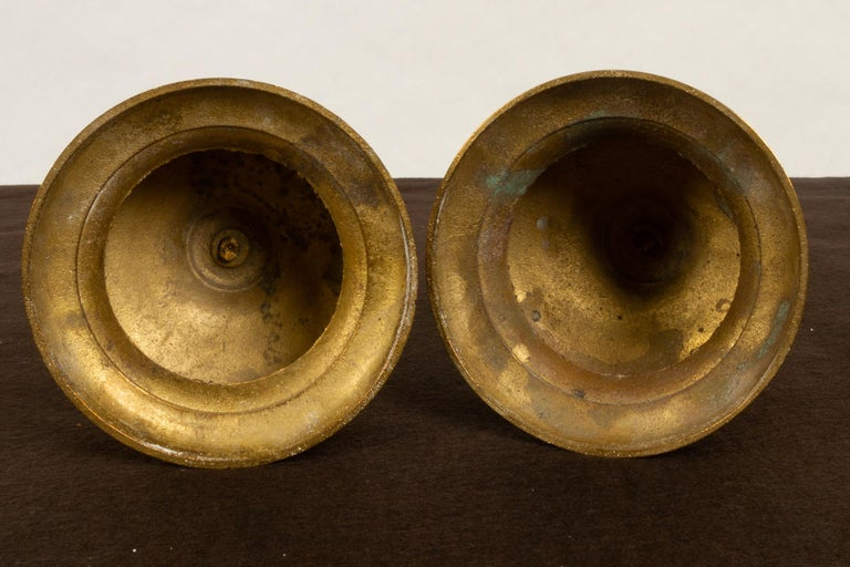 Brass Candleholders, 19th Century, Set of 6 For Sale 1