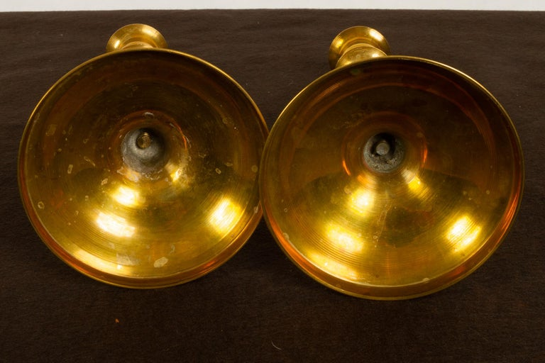 Brass Candleholders, 19th Century, Set of 6 For Sale 4