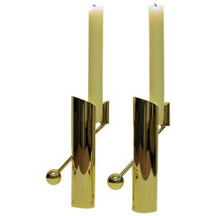 Brass Candleholders Variabel by Pierre Forsell for Skultuna, Sweden, 1960s