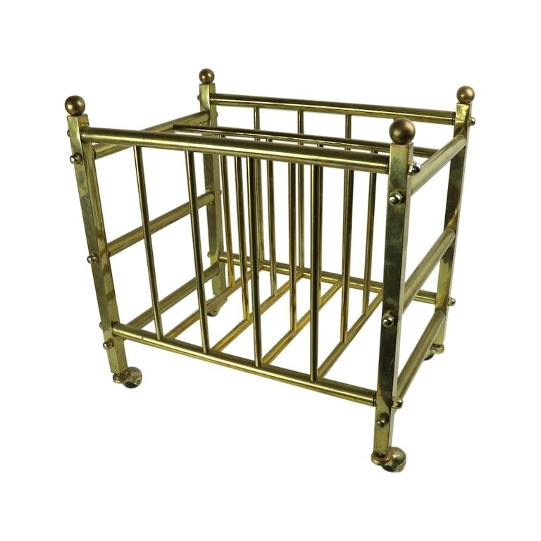Brass Canterbury Magazine Rack
