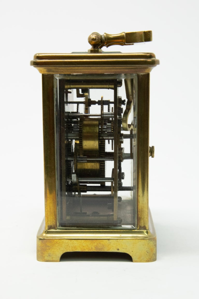 American Brass Carriage Clock by J. E.Caldwell & Co. For Sale