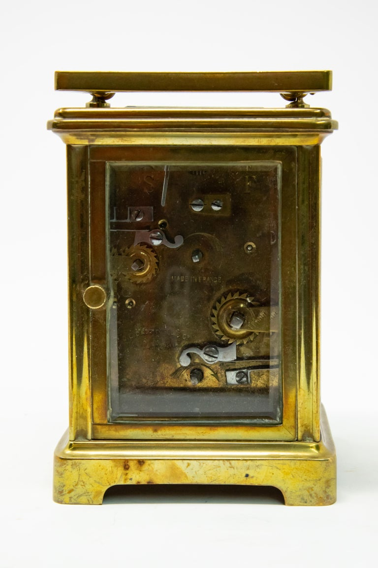 Brass Carriage Clock by J. E.Caldwell & Co. In Fair Condition For Sale In Cookeville, TN