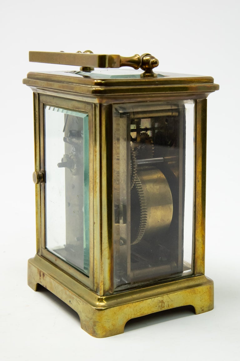 20th Century Brass Carriage Clock by J. E.Caldwell & Co. For Sale