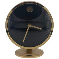 Brass Case Howard Miller Table / Desk Clock