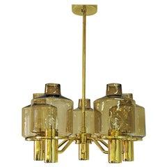 Brass Ceiling Lamp Mod T507 by Hans Agne Jakobsson, Sweden 1960s