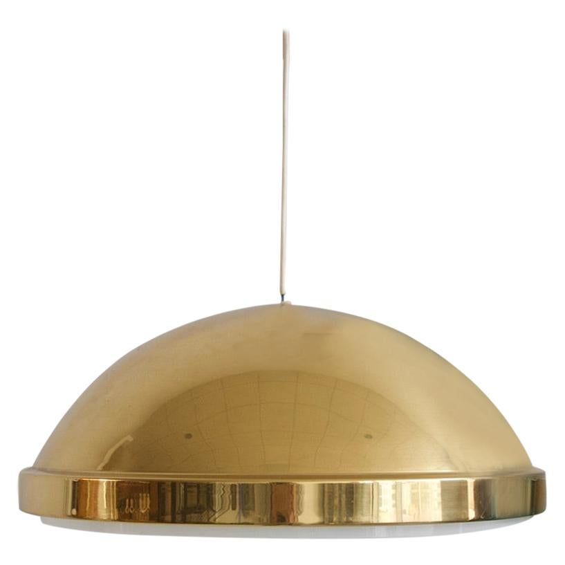 Brass Ceiling Lamp with Acrylic Screen by Bergboms