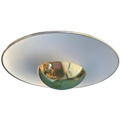 Brass Ceiling Light #155 by Gino Sarfatti for Arteluce, Italy, 1950