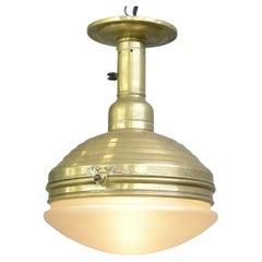 Brass Ceiling Light by Carl Zeiss Jena Circa 1920s