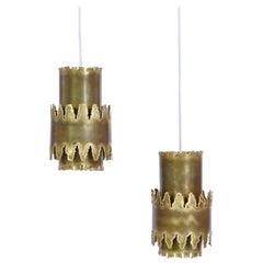 Brass Celing Pendants in Brutalist Style by Svend Aage Holm Sørensen, 1960s