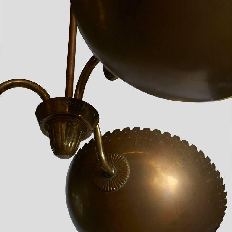 Swedish Brass Chandelier by Bertil Brisborg For Sale